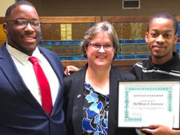 Annexstad Scholar Gabrion Johnson Pays It Forward