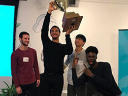 Annexstad Scholar Victor Hunt Wins NYU-Yale Pitchoff